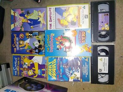The Simpsons VHS Video Collection X9 originals collector retro episodes