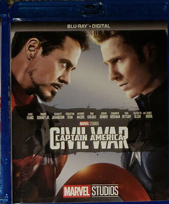 Marvel Blu Ray Captain America  Civil War with trading cards