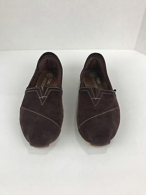 Women's TOMS Brown Suede Leather Shoes Size 8 Classics