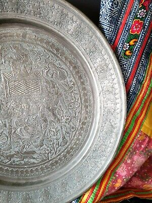 Old Persian Pewter Plate …beautiful collection & display piece