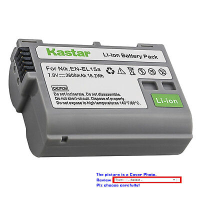 Kastar Replacement battery for Nikon EN-EL15 EN-EL15a Nikon D7200 DSLR Camera