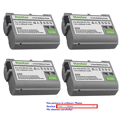 Kastar Replacement battery for Nikon Original EN-EL15a Nikon Genuine MH-25a