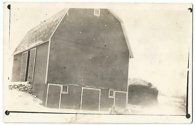 Nashville Michigan ?? (Barry County) Old Barn RPPC Real Photo Postcard c.1910