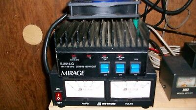 Mirage B-2516-G amplifierand AstronSS30M switching pwr supply