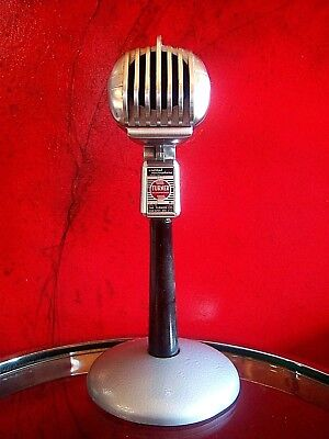 Vintage 1950's Turner 33X crystal microphone old w period Astatic desk stand