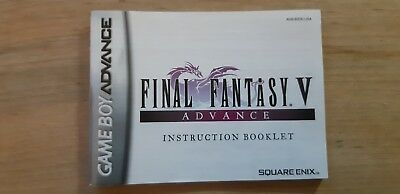 Final fantasy V manual gba instruction booklet game boy advance 5