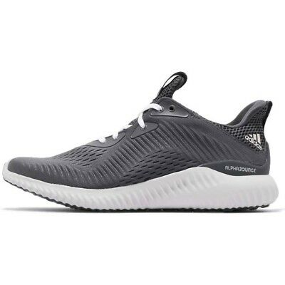 buy online b910f 6cc62 Adidas Alphabounce EM M Grey White Men Running Training Shoes Sneakers  CQ1342