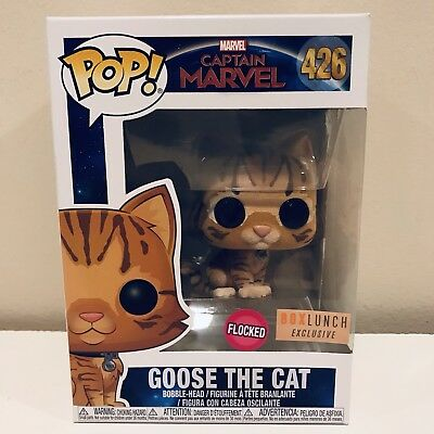 Funko Pop! Captain Marvel Goose The Cat Flocked Box Lunch Exclusive #426