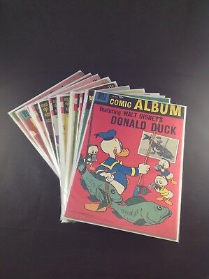 Disney Donald Duck x12 Comic Book Lot 1955-1979 Low Grade
