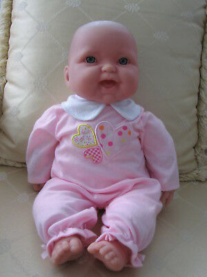 "Lovely BERENGUER Baby Doll, 38cm/ 15"",  Blue Eyes,  Smiling Baby. Good Condition"