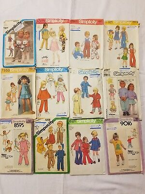 Lot of 22 Vintage 60s70s80s Child Toddler Patterns McCalls Simplicity Butterick