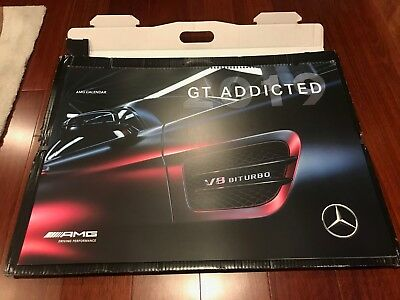 2019 MERCEDES AMG GT Private Lounge Giant Racing Poster Calendar Rare GTR GTC
