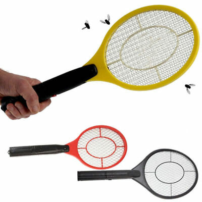 Electric Bug Zapper Racket Mosquito Fly Swatter Killer Insects Bat Handheld AU