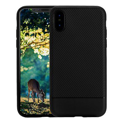 iPhone X Case Soft Touch Slim Black Durable Flexible Anti Scratch for Apple 2017