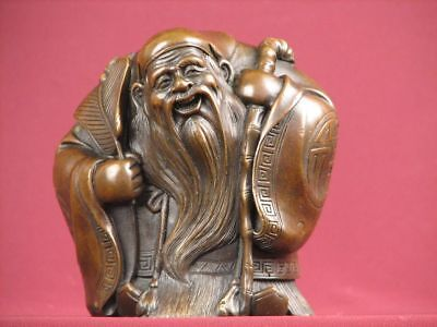 Bronze Statue Handcrafted Chinese God Religious Highly Detailed Sculpture