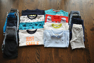 A lot of 17-pc toddler boys summer clothes size 4t-4 Carter's Gymboree