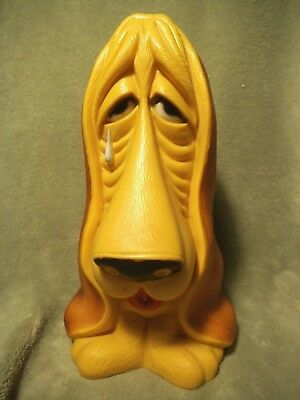 Vintage My Toy Inc. 1971 Sad Basset Droopy Dog Plastic BANK, 11 inch, Crying