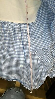 Pottery Barn Kids Blue Gingham twin Bed Skirt dust ruffle