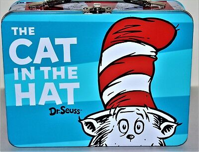Vandor #17570 Dr. Seuss CAT IN THE HAT Large Tin Tote/Lunch Box Multi-color