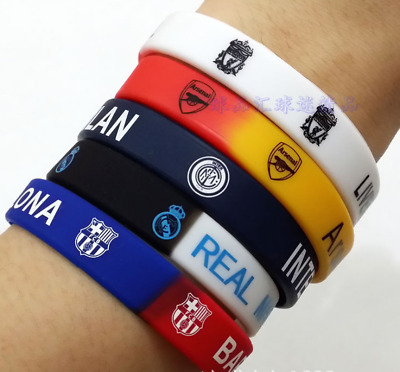 Real Madrid FC Barcelona Juventus Liverpool CR7 MESSI Wristband Bands Bracelet