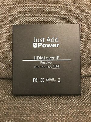Just Add Power HDMI Over IP Receiver Three Available