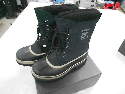 Sorel Men's NM 1002871014 Waterproof Caribou Boots - Black Tusk size 11