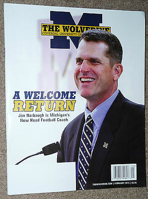 UNIVERSITY OF MICHIGAN THE WOLVERINE Magazine JIM HARBAUGH Cover Feb 2015 Issue