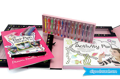 SpiceBox GEL PENS Kit - Paper Glitter Glue Art Foam & MORE! Scrapbooking Crafts