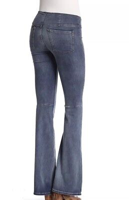 NWT Free People Penny Pull On Kick Flare Stretch Jeans 26 Boho Bellbottom