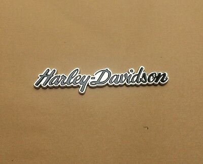 3D Metal Curly Letter Emblem / Badge For Harley Davidson Tank / Body