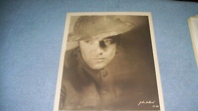 Antique silent film movie WW I John Holland promo press authentic Photograph