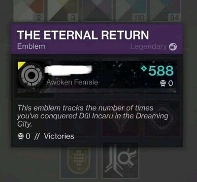 Destiny 2 Solo Shattered Throne + The Eternal Return emblem (Xbox Recovery)