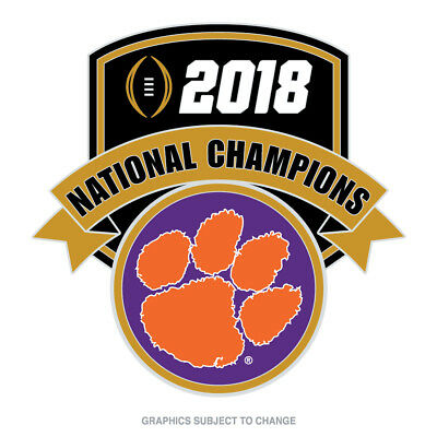 2018 Clemson Tigers National Champions Shaped Lapel Pin