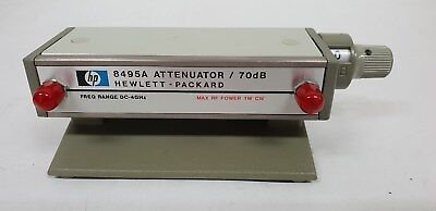 Agilent/HP 8495A Manual Step Attenuator, DC to 4 GHz, 0 to 70 dB, 10 dB steps