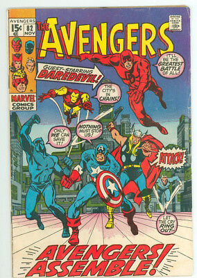 Avengers #82 Daredevil Marvel Comics 1970 FN Combined Shipping Available