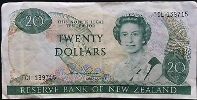 20.00 New Zealand Paper Note (Circulated)