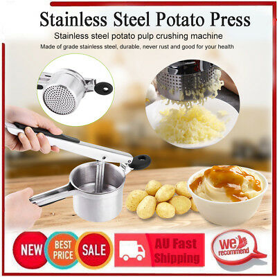Kitchen Stainless Steel Potato Ricer Masher Fruit Juicer Vegetable Press Squeeze