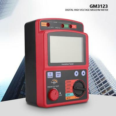 GM3123 Portable Digital LCD High Voltage Insulation Tester with Auto Discharge