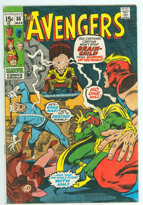 Avengers #86 Brain-Child Marvel Comics 1971 FN Combined Shipping Available