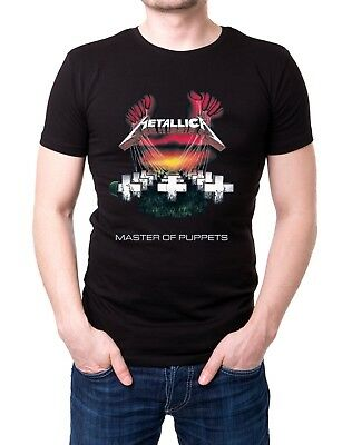 Metallica - T-shirt homme noir rock heavy metal vintage 1