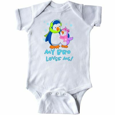 inktastic My Big Bro Loves Me Cute Teacup Penguins Little Toddler T-Shirt