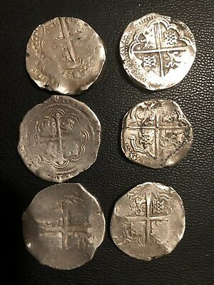 8 Reales Felipe IV  batch of 6 silver coins