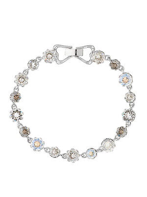 6080bd513aa16 New TED BAKER Chaley Crystal Crown Silver Bracelet Diamontes Medium   Large