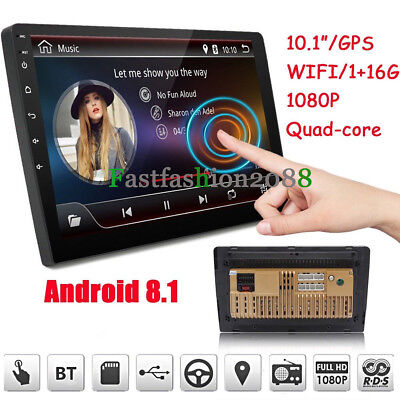 """GOOD 10.1"""" 2Din Android 8.1 Quad Core Car Stereo Radio GPS Wifi Touch MP5 Player"""
