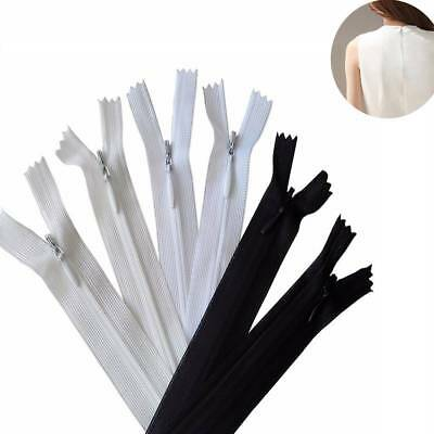 10pcs/lot 35cm Long Invisible Zippers DIY Nylon Coil Zipper For Sewing Material