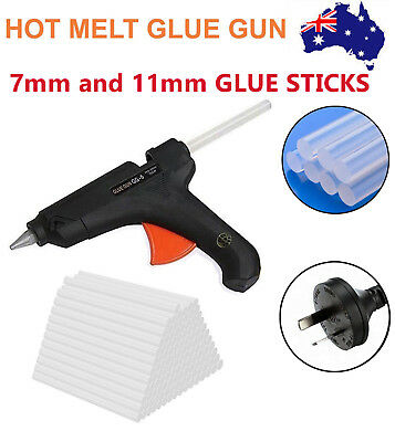 Electric Hot Melt Glue Gun Trigger Adhesive Sticks Craft DIY Hobby Repair 7/11mm