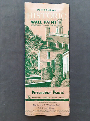 Vintage Pittsburgh Paint Samples Pamphlet