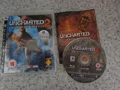 Playstion 3 Ps3 Game Uncharted 2 Among Thieves Lot 2
