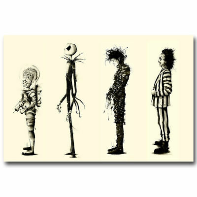 Tim burton Films Beetlejuice Movie Art Silk Poster 8x12inch