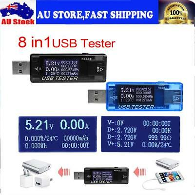 8-in-1 Electrical Power USB Capacity Voltage Tester Current Voltmeter Ammeter